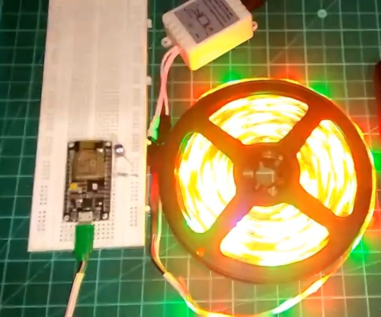 ESP8266 RGB LED STRIP WIFI Control   NODEMCU As a IR Remote for Led Strip Controlled Over Wifi   RGB LED STRIP Smartphone Control