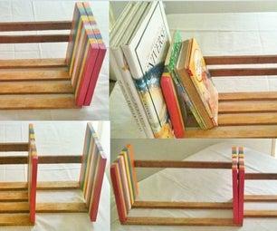 Adjustable Table Top Book Rack