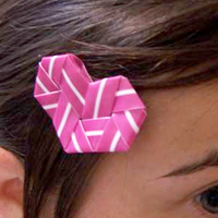 Drinking Straw Heart Hairpin