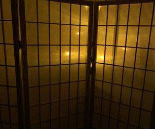 Flaming LEDs Behind the Shoji Screen