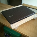 NetBook and laptop stand from scrap materials (military style)