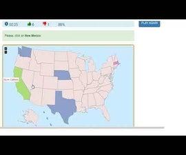 Interactive USA States Quiz