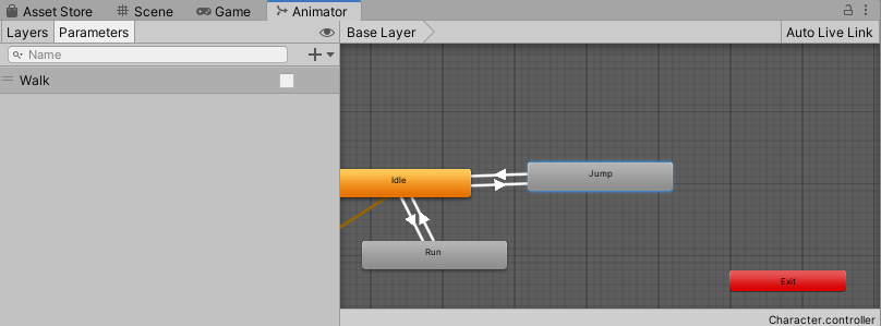 Animate the Character