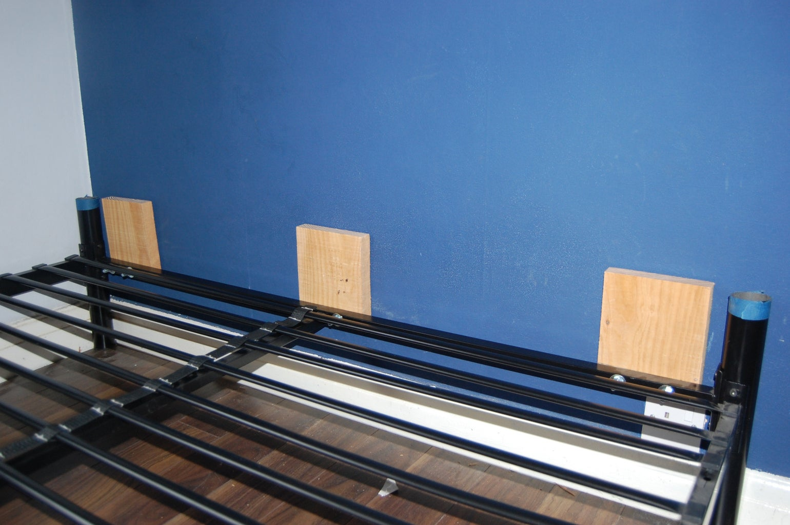 Bolt the Wood to the Bed Frame