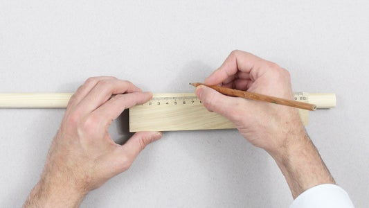 Measure the Round Dowel to Have 1 Piece of 50 Cm.