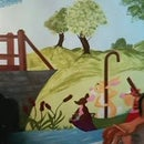 DIY How to paint a mural (Winnie the Pooh)