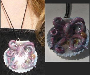 Octopus in a Seashell Necklace