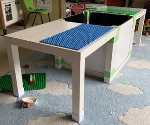 Hardware-free LEGO/DUPLO Table (IKEA LACK Hack)