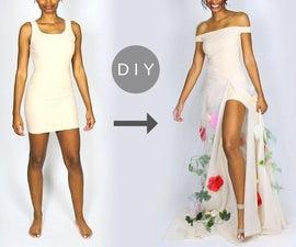 如何使DIY花衣服从基本的形状外