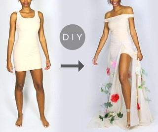 How to Make a DIY Flower Gown Out of Basic Shapewear