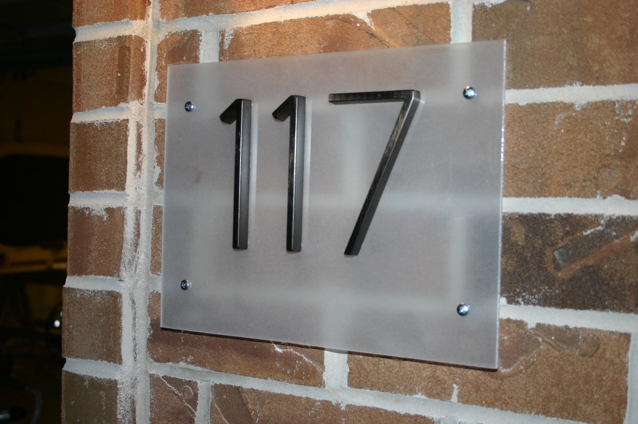 Contemporary Street Number Plaque