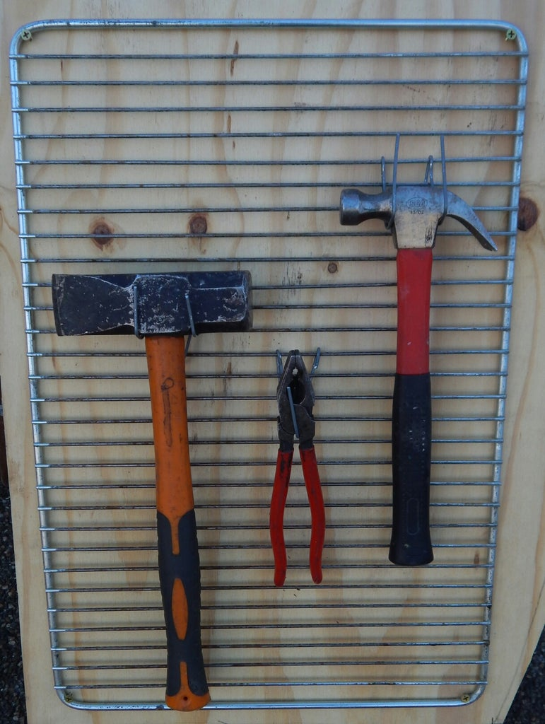 Upcycled Wire Tool Organizer