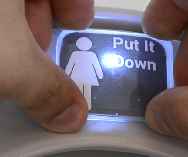 Put the Toilet Seat Down - LED Reminder