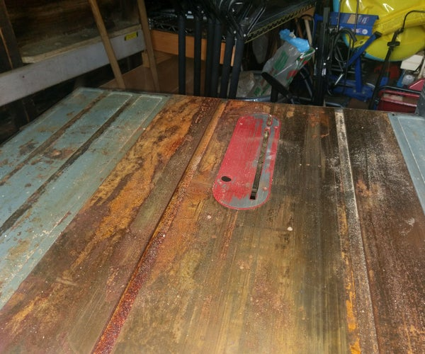 Table Saw Rust Removal