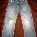 Patching Knee of Jeans