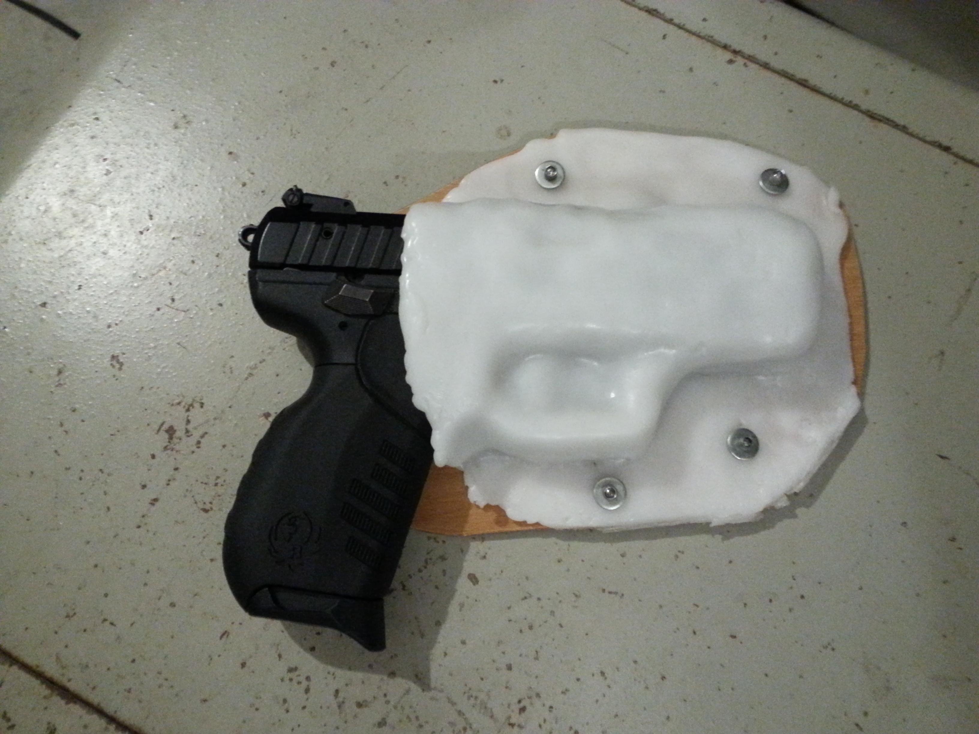 Instamorph pistol holster