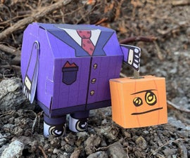 Free Halloween Headless Robot Papercraft