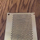Making Perforated Brass for a Star Trek Communicator