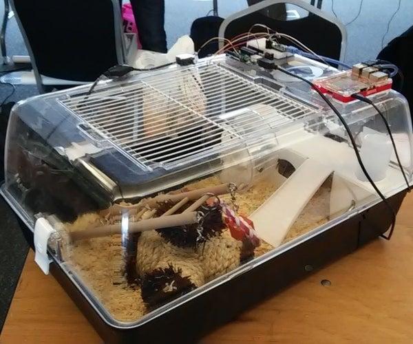Tweeting Hamster Cage