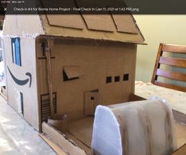 Sustainable House Model in Alpine Tundra Made of Cardboard
