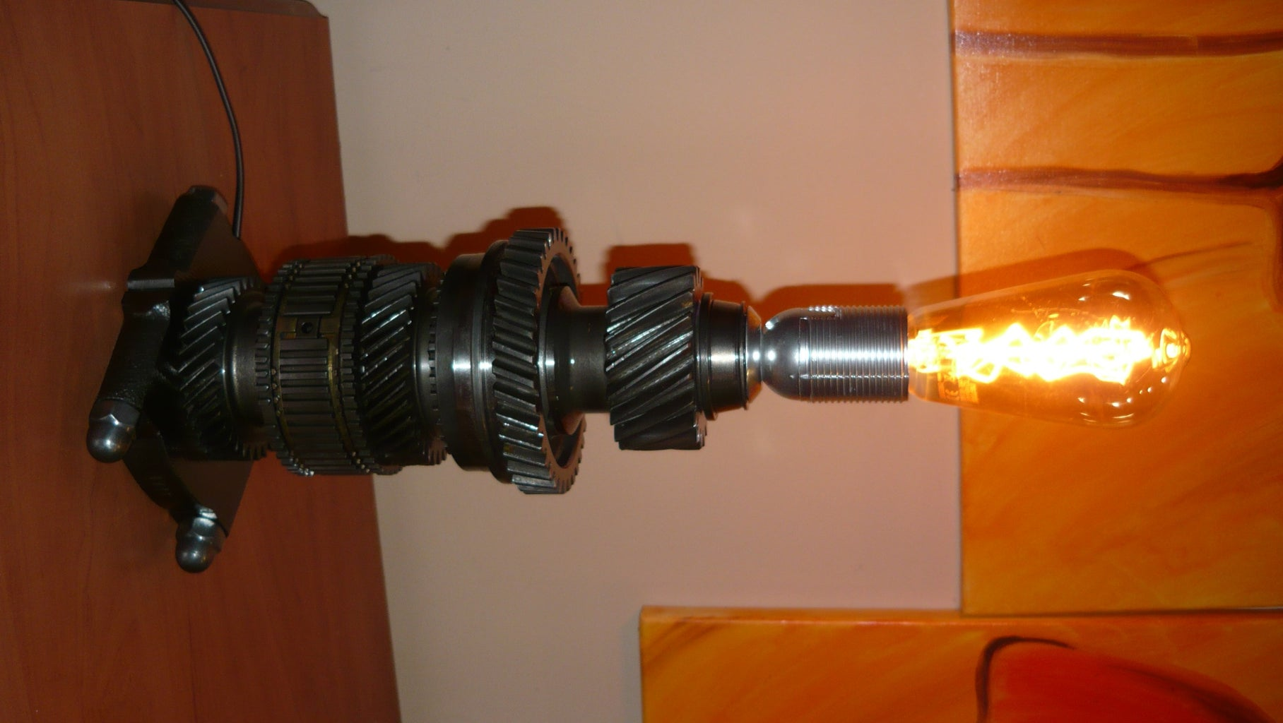 DIY GEARBOX PARTS TABLE LAMP