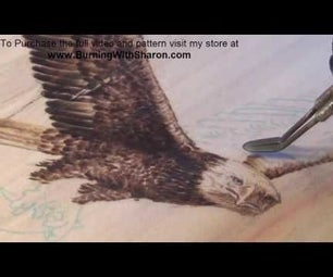 Pyrography: How to Burn a Flying Bald Eagle