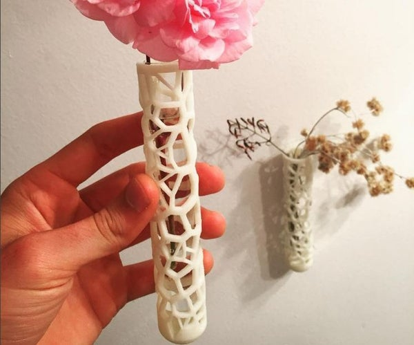 Super Cool 3D Printed Test Tube Vase!
