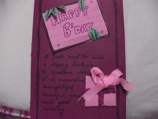 Two Shade Birthday Card