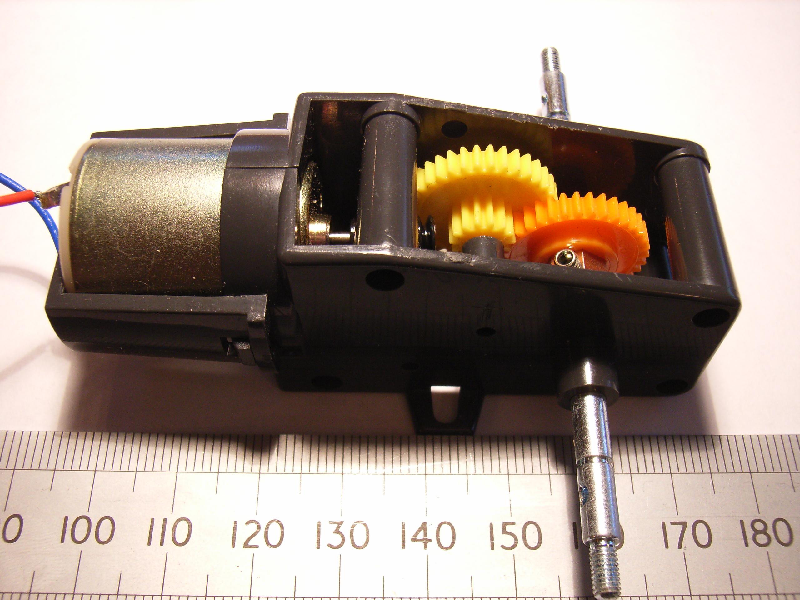 Tamiya 72004 worm gearbox speed sensor