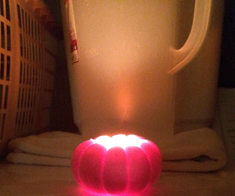Mini-Pumpkin Tea Candles