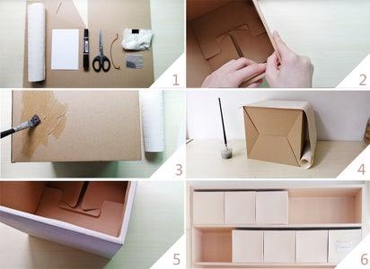 Making a Cardboard Storage Box