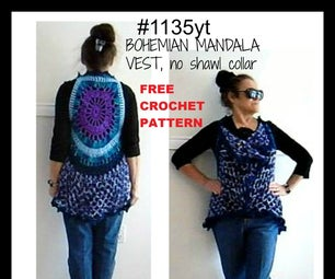 BOHEMIAN MANDALA VEST # 1135YT