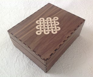 Laser Cut Box With Veneer Endless Knot Inlay