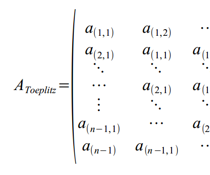 An approximated paper screw based on a N-Diagonal Matrix
