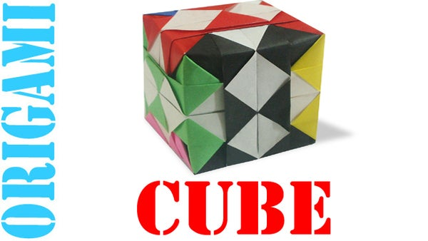 How to Make an Origami 3D Checkered Cube 2 (Hexahedron)!