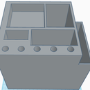 Desk Organizer Cube Using TINKERCAD!