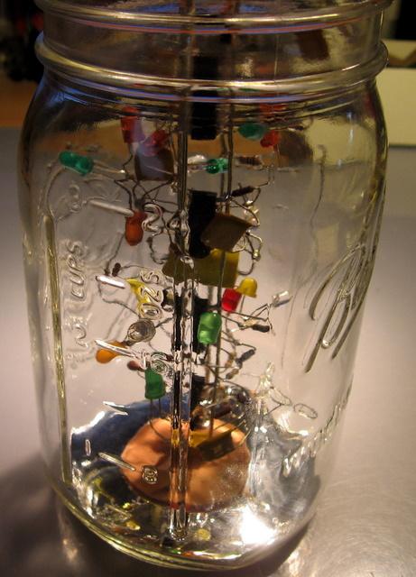 Jar of Flashing Lights