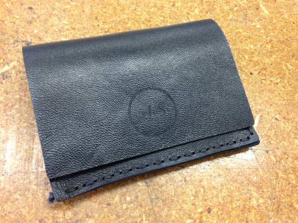 Making a Simple Folded Leather Wallet With Engraved Insignia