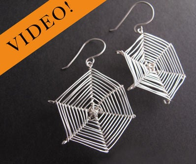 DIY Spider Web Earrings - Halloween Jewelry Project
