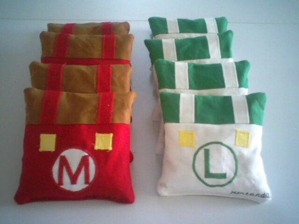 Mario and Luigi Corn Hole Bags