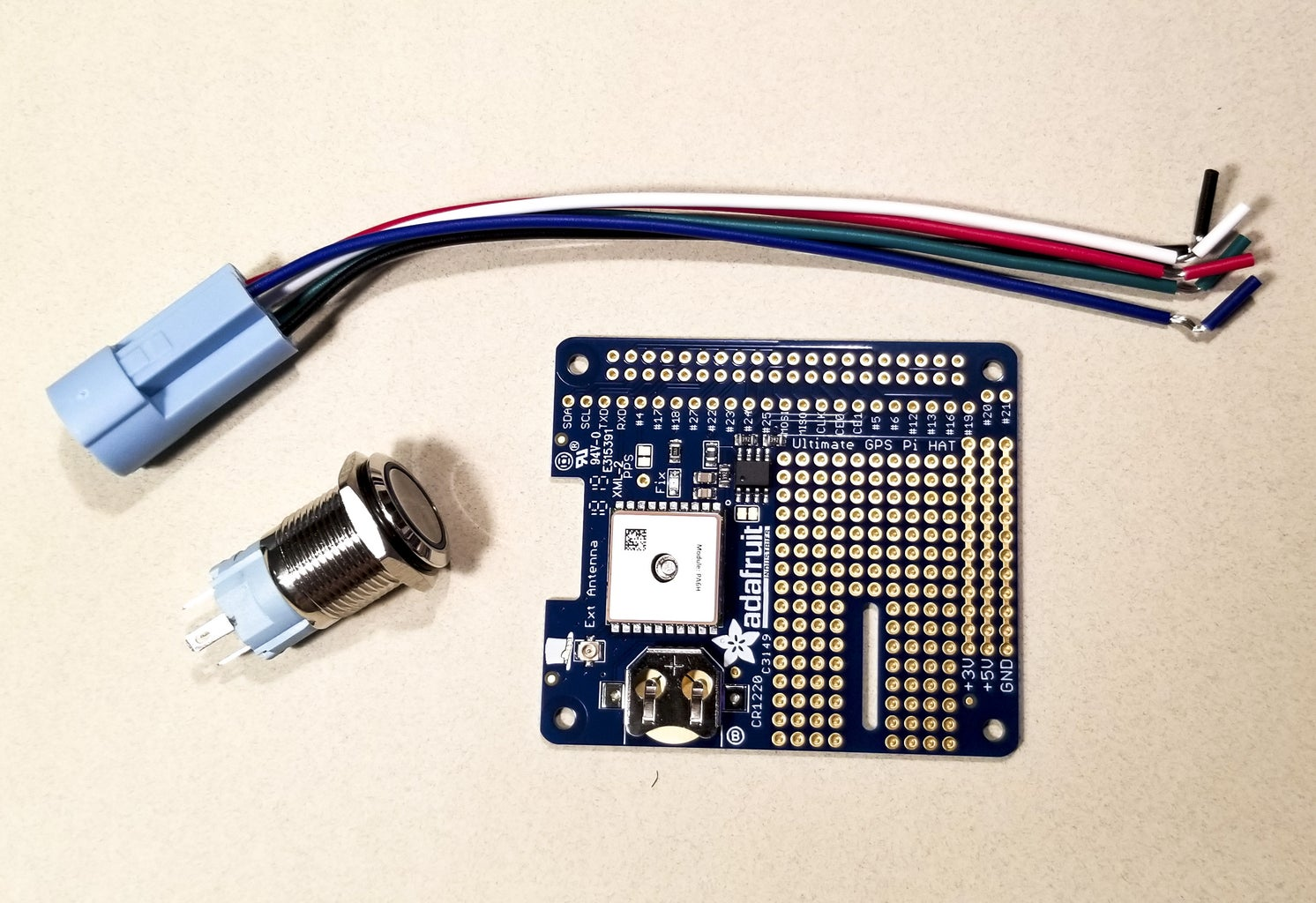 Soldering Pushbutton to GPS HAT
