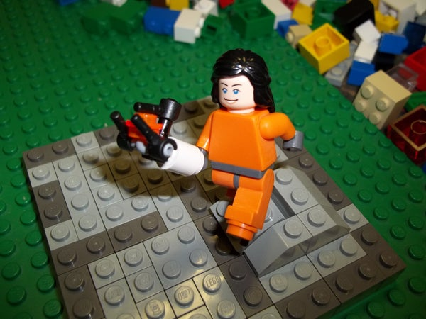 Lego Chell Minifigure From Portal