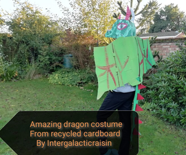 Amazing Dragon Costume From Recycled Cardboard