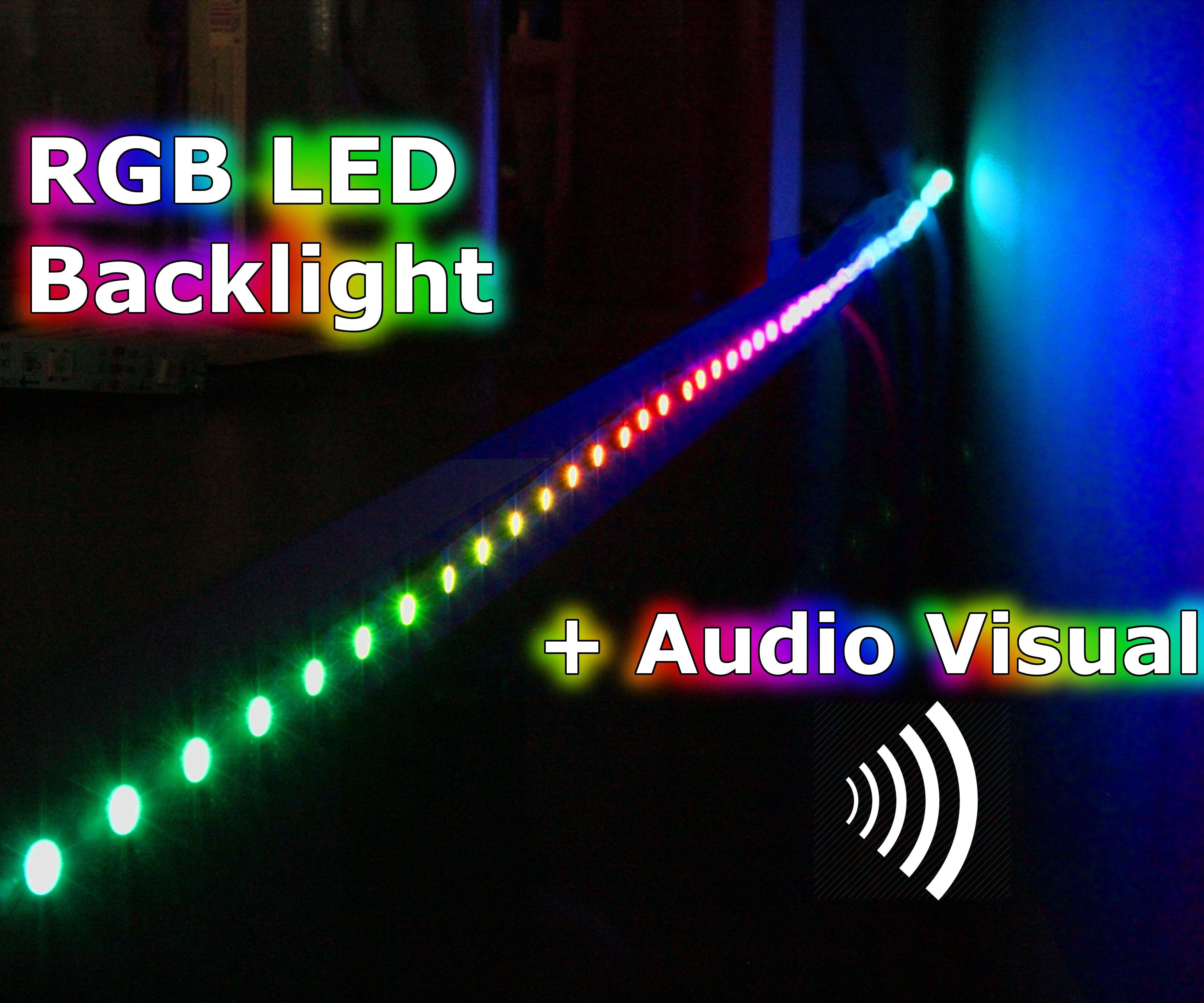 RGB Backlight + MSGEQ7 Audio Visualizer