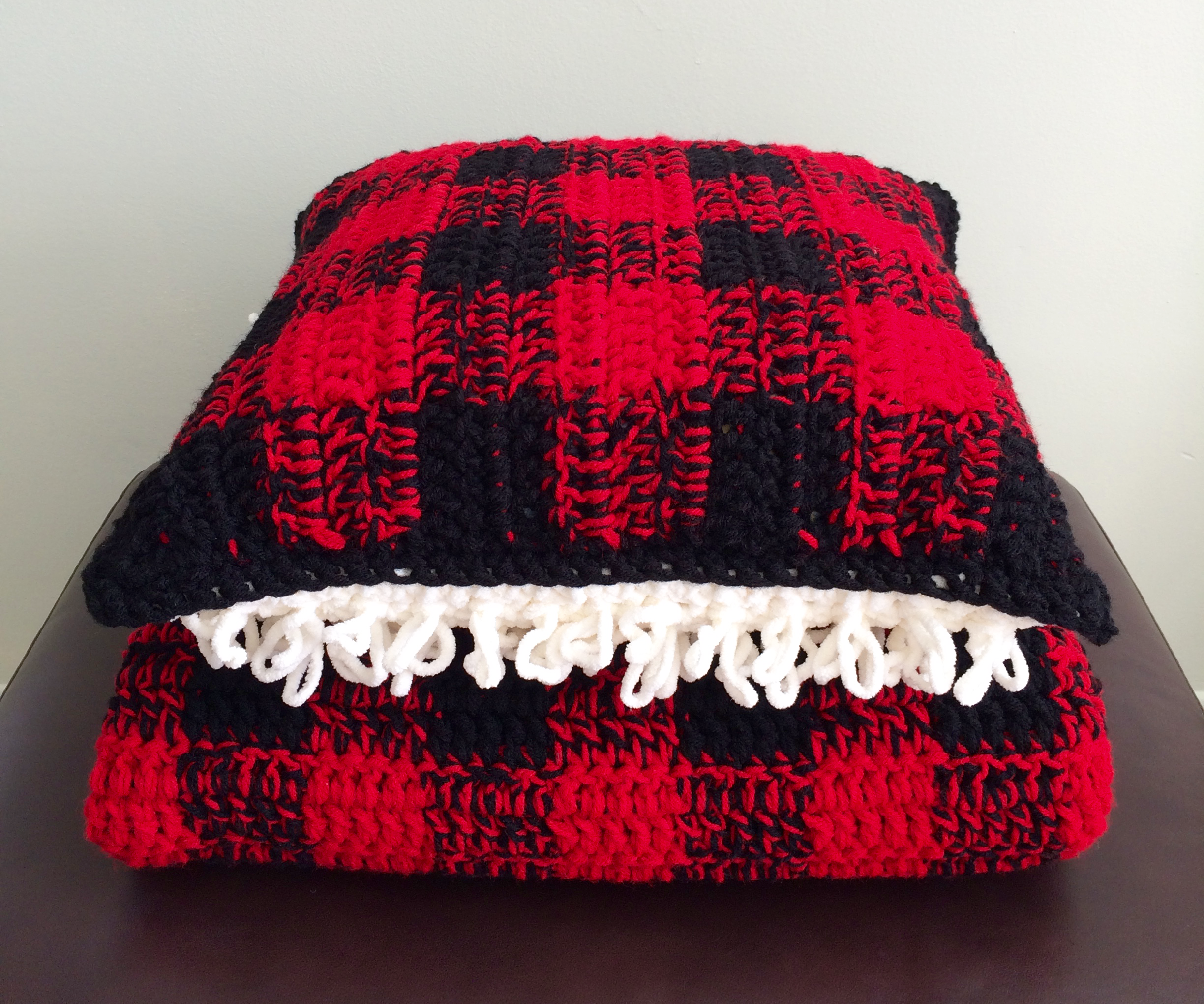 Cozy Plaid Pillow and Afghan