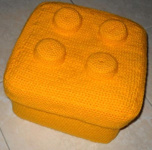 Lego Brick Crocheted Box