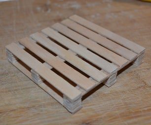 Pallet Style Drink Coaster Using Popsicle Sticks