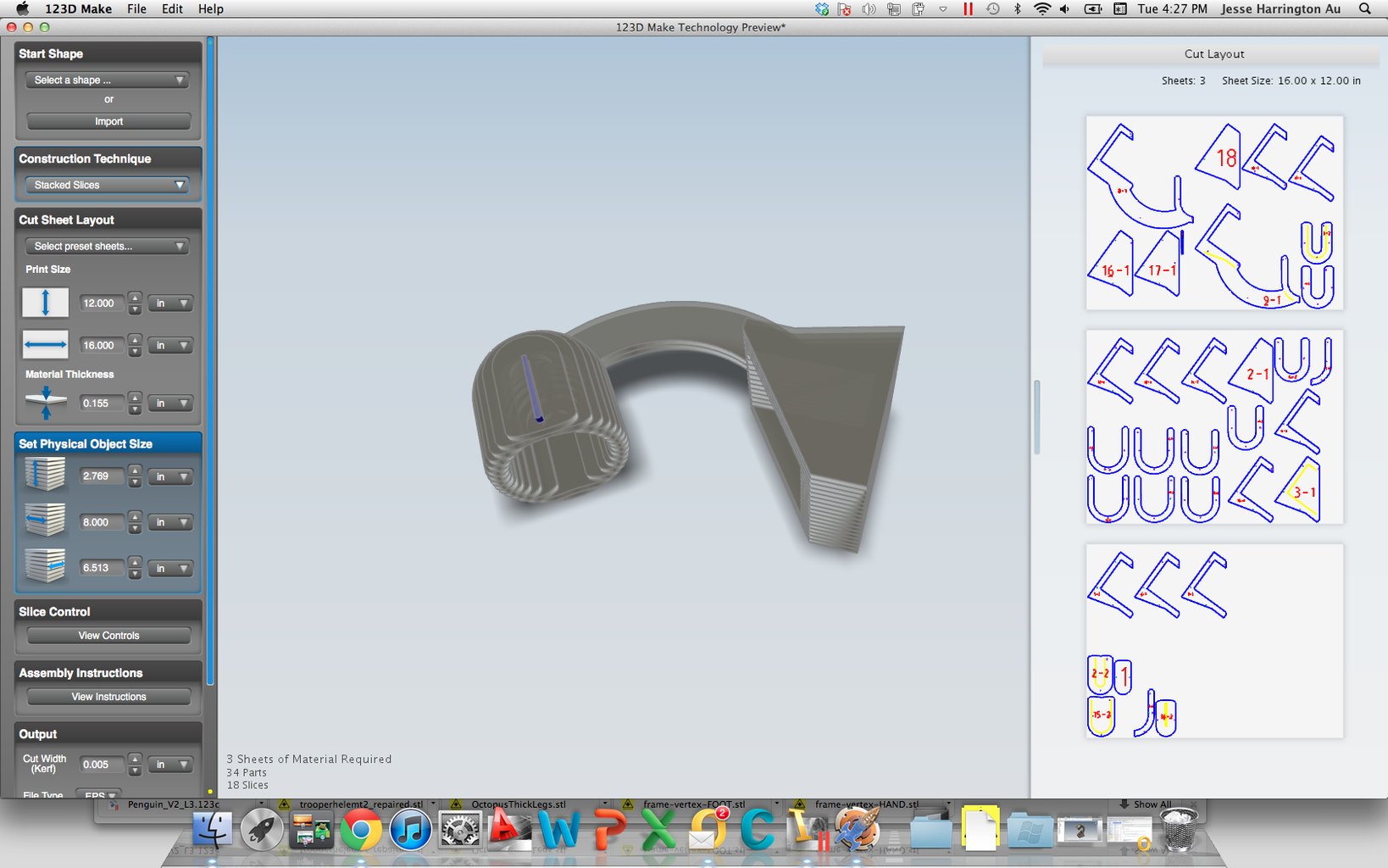 From Inventor to 123D Make