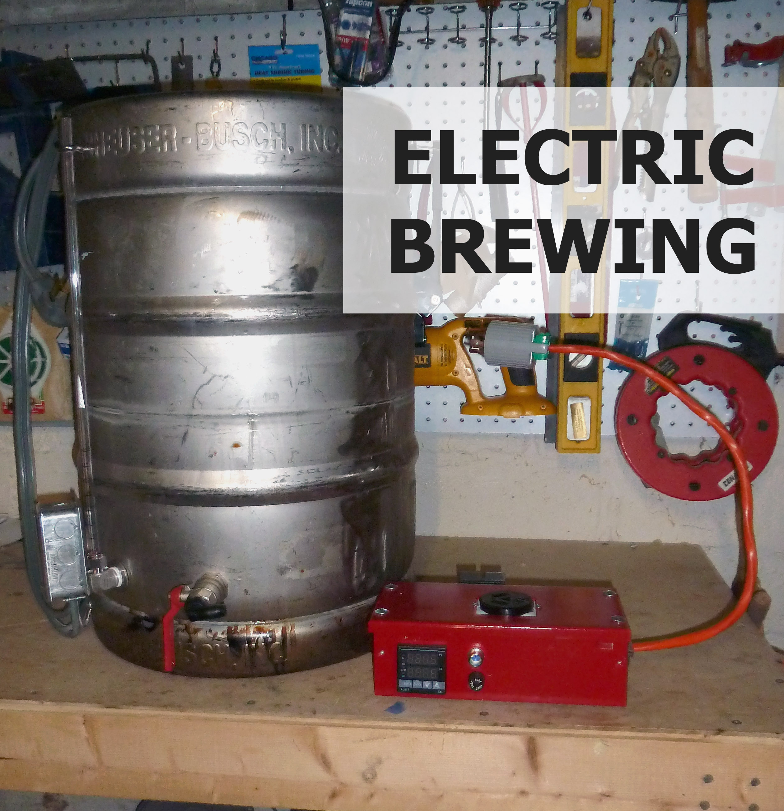 Electric beer brewing system