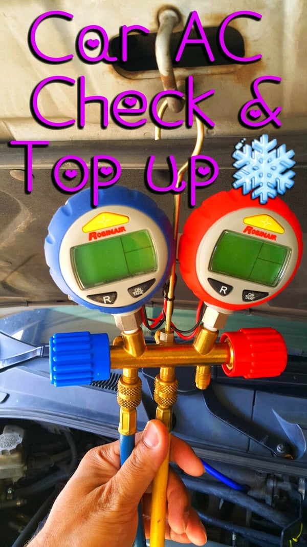 Quick Check/Topping Up a Car's Air Conditioning.